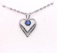 Montana Sapphire 4mm Lacy Heart Solitaire Pendant
