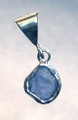 Montana Yogo Sapphire NATURAL CRYSTAL PENDANT STERLING SILVER