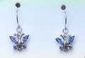 Montana Yogo Sapphire Butterfly Earrings .98 ct 14K White Gold