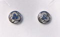 Montana Yogo Sapphire Tri in Circle Earrings Sterling Silver