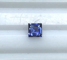 Montana Yogo Sapphire square princess cut .25ct 3.4mm