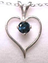 Montana Sapphire Open Heart Solitaire Pendant