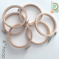 "4"" wood embroidery hoop"