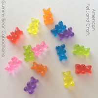Resin Gummy Bear - 7 piece flat back