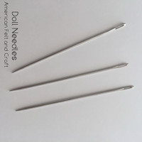 "Doll Needles - Set of 3 -4"" crafting needles"