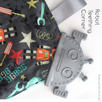 Robot Teether Corner- Silicone