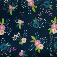 Olivia Floral - flower print polyester felt