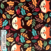 Friendly Fox Print - XL felt sheet