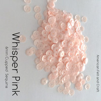 Whisper Pink - 6mm Cupped Sequins