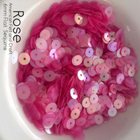 Rose - 6mm Flat Sheer Sequins