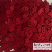Red Velvet - 6mm Flat Matte Sequins