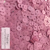 Thistle - 6mm Flat Matte Sequins