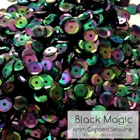 Black Magic - 6mm Cupped Sequins