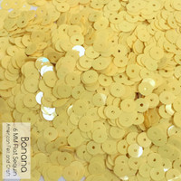 Banana - 6mm Flat Matte Sequins