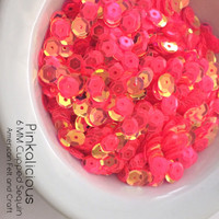 Pinka-licious - 6mm Flat  Sequins