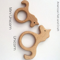 Mini Unicorn Teething Pendant
