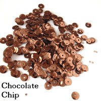 Chocolate Chip Brown - 6mm Cupped Sequins