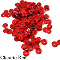 Classic Red - 6mm Cupped Sequins