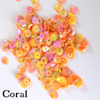 Coral- 6mm Cupped Sequins