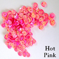 Hot Pink - 6mm Cupped Sequins