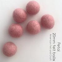 Petal  - Wool Felt Balls 2 cm