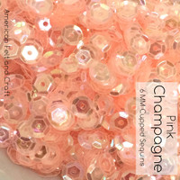 Pink Champagne - 6mm Cupped Sequins