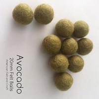 Avocado  - Wool Felt Balls 2 cm