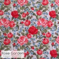 Rose Garden printed felt