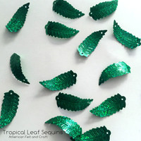 Tropical Leaf Sequins  - 19mm  Shaped sequins