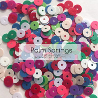 Palm  Springs Mix- 6mm Flat Matte Sequins