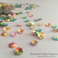 Rainbow Mix Flower  - 6mm Cupped Sequins