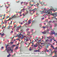 Purple Flower  - 6mm Cupped Sequins