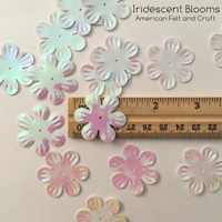 Iridescent Blooms Sequins  - Flower shaped sequins