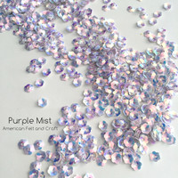 Purple Mist Flower  - 6mm Cupped Sequins