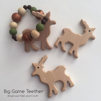 Big Game beechwood teether