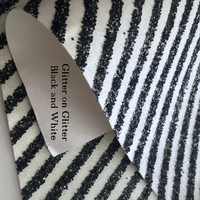 Glitter on Glitter Diagonal Stripe Fabric - Black