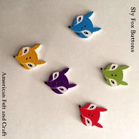 Sly Fox- Wood buttons