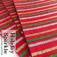 Holiday Sparkle glitter print felt