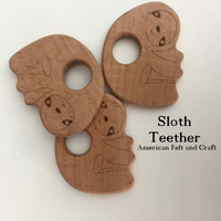 Sloth Beechwood Baby Teether