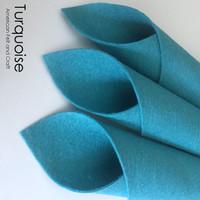 Turquoise - Wool Blend Felt