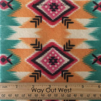 Way Out West - printed felt