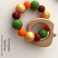 Pumpkin -  Beechwood Baby Teether
