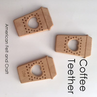 Coffee -  Beechwood Baby Teether