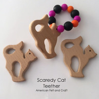 Scaredy Cat -  Beechwood Baby Teether