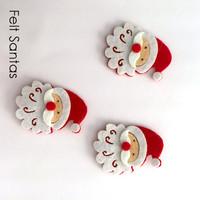 Santa felt shapes