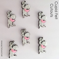 Valentines day felt shapes cupid