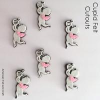 Valentines day felt shapes cupid