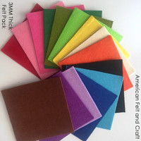 3mm Thick Felt 15 Color Pack