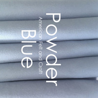 Powder Blue- Wool Blend Felt