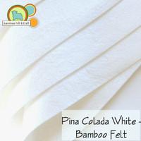 Pina Colada White - Bamboo Felt